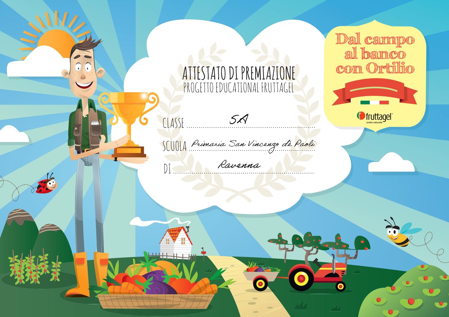 """Proclamati i vincitori del concorso """"E' successo nel mio orto"""" – Classe 5°A II Classificata"""